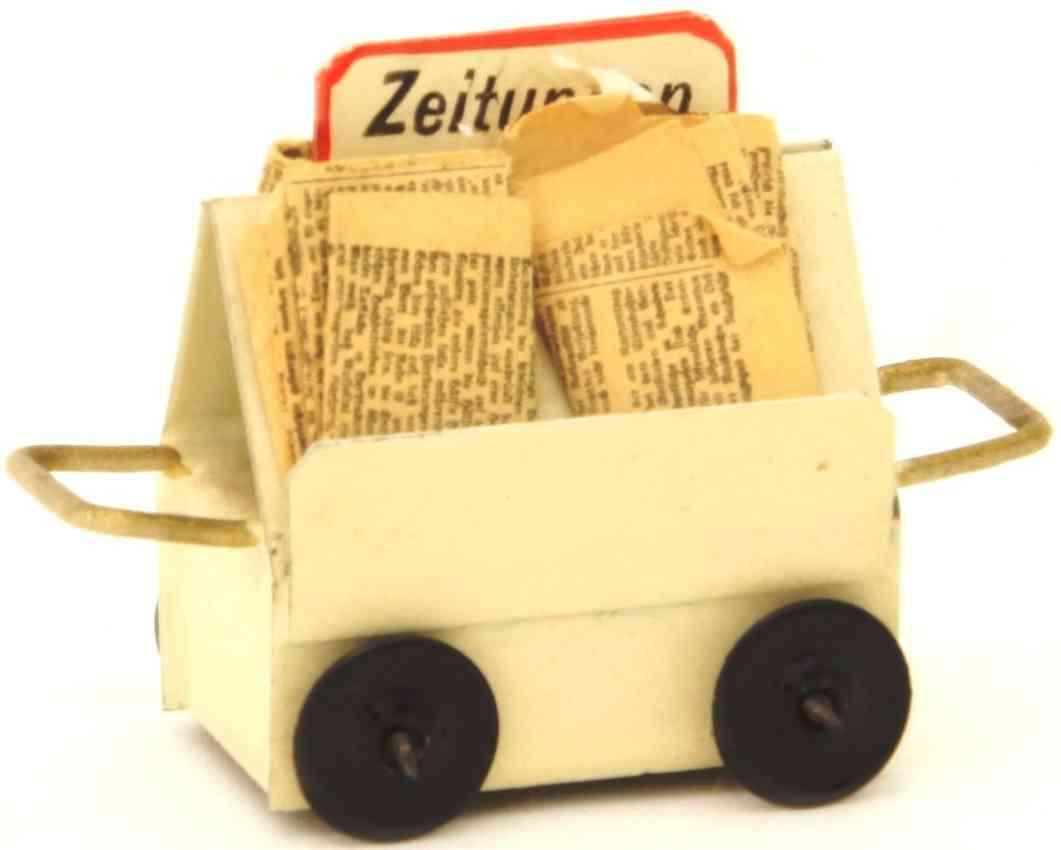kibri 0/60/4  3/4 railway toy newspaper wagon
