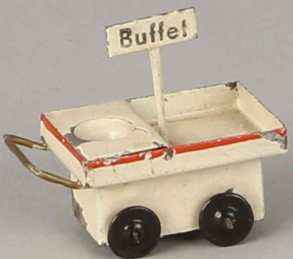 kibri 0/63/5 railway toy platform accessories buffet cart