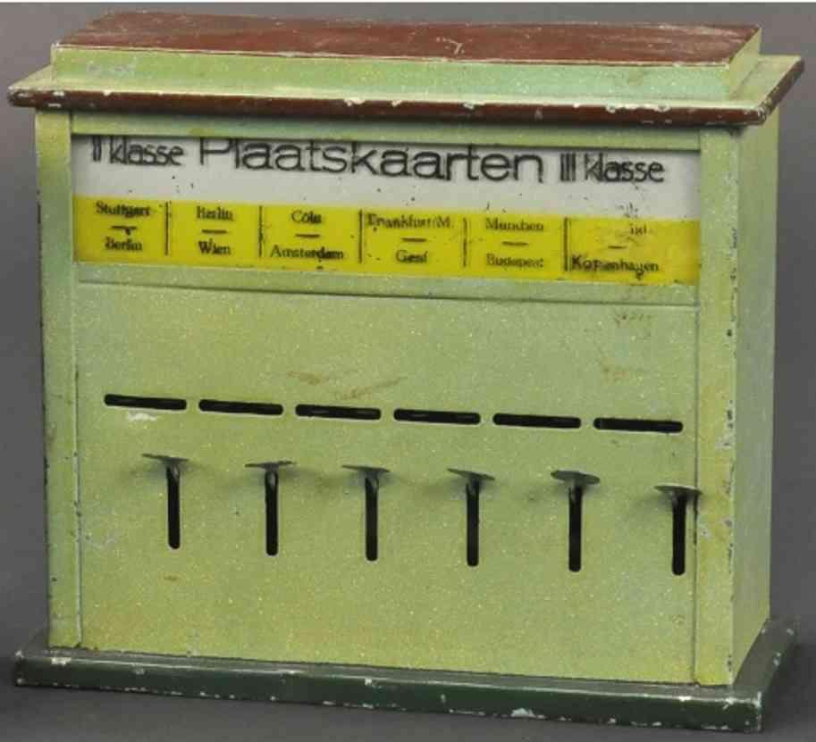 kibri 37/3 spielzeug eisenbahn fahrkarten-automat  sechs druckhebel