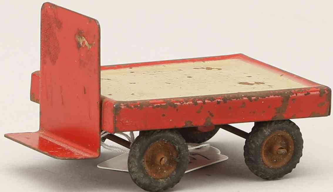 kibri 41/8 1939 railway toy platform accessories luggage cart with rubber tires