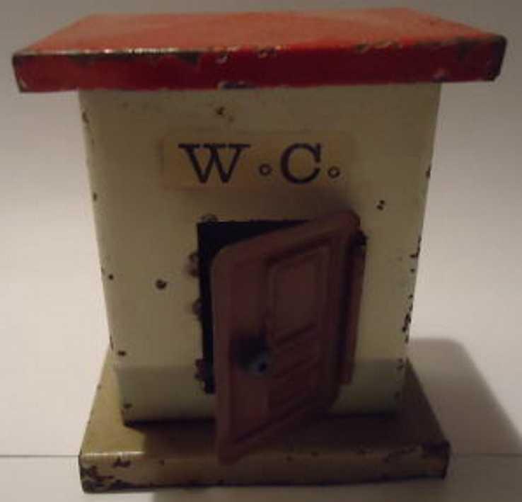 kibri 58/1 spielzeug eisenbahn toilette wc-haus