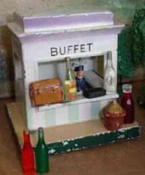 kibri 60/00 railway toy tin kiosk