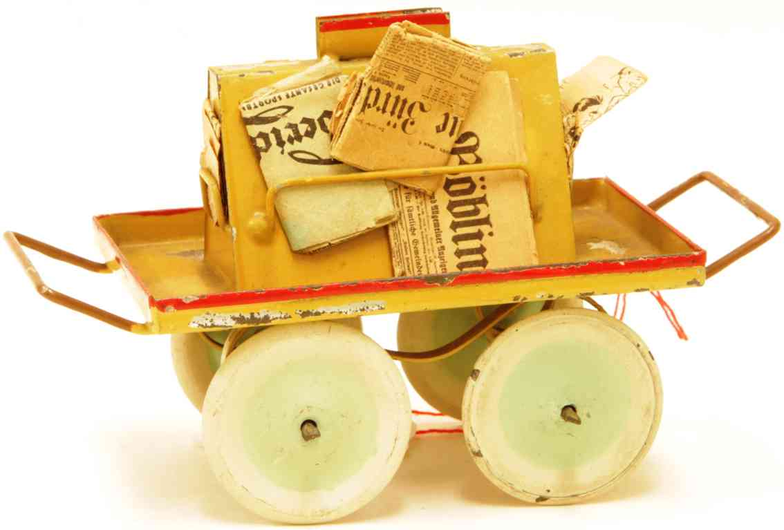 kibri 60/3 1/2 railway toy platform accessories newspaper car