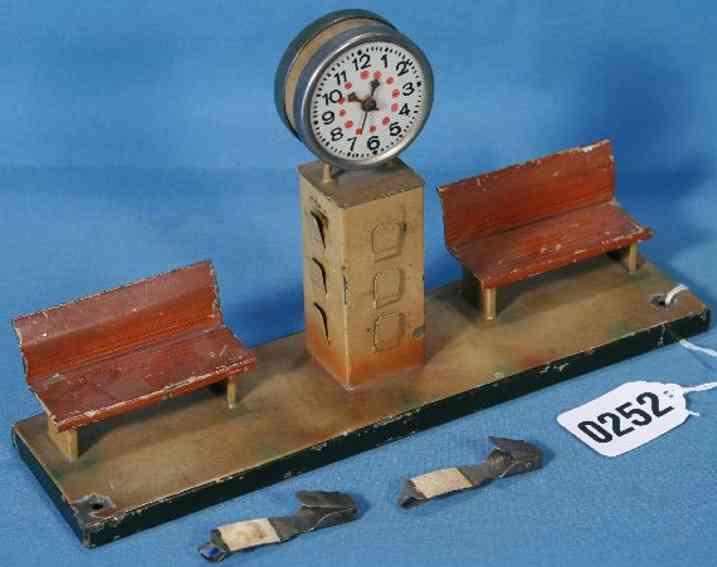 kibri 62/5 railway toy platform 2 benches with clock