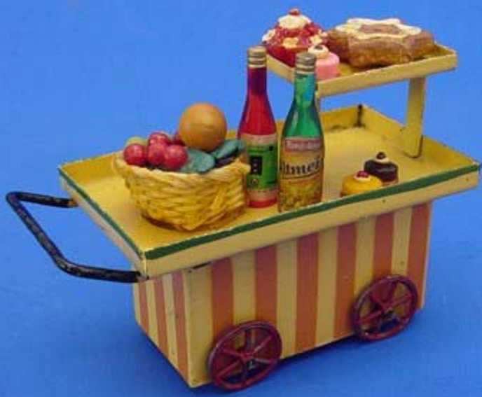 kibri 63/4 spielzeug eisenbahn buffetwagen mit tragantspeisen