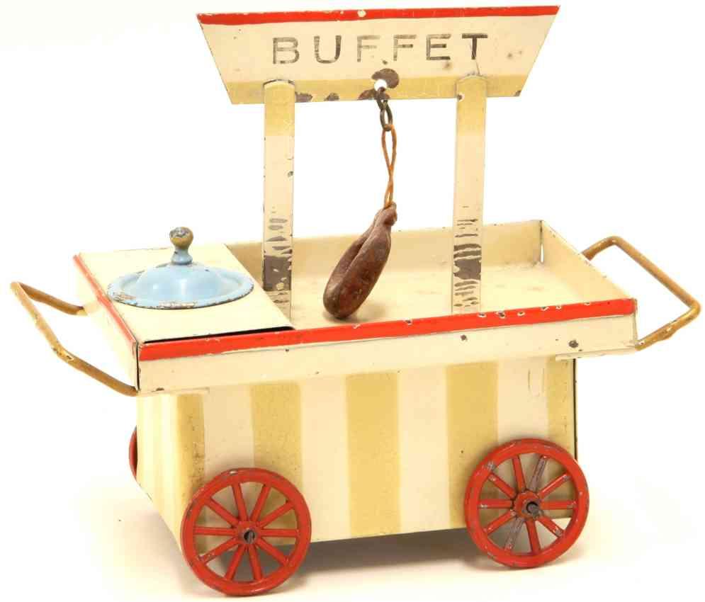 kibri 63/6 railway toy platform accessories buffet cart striped