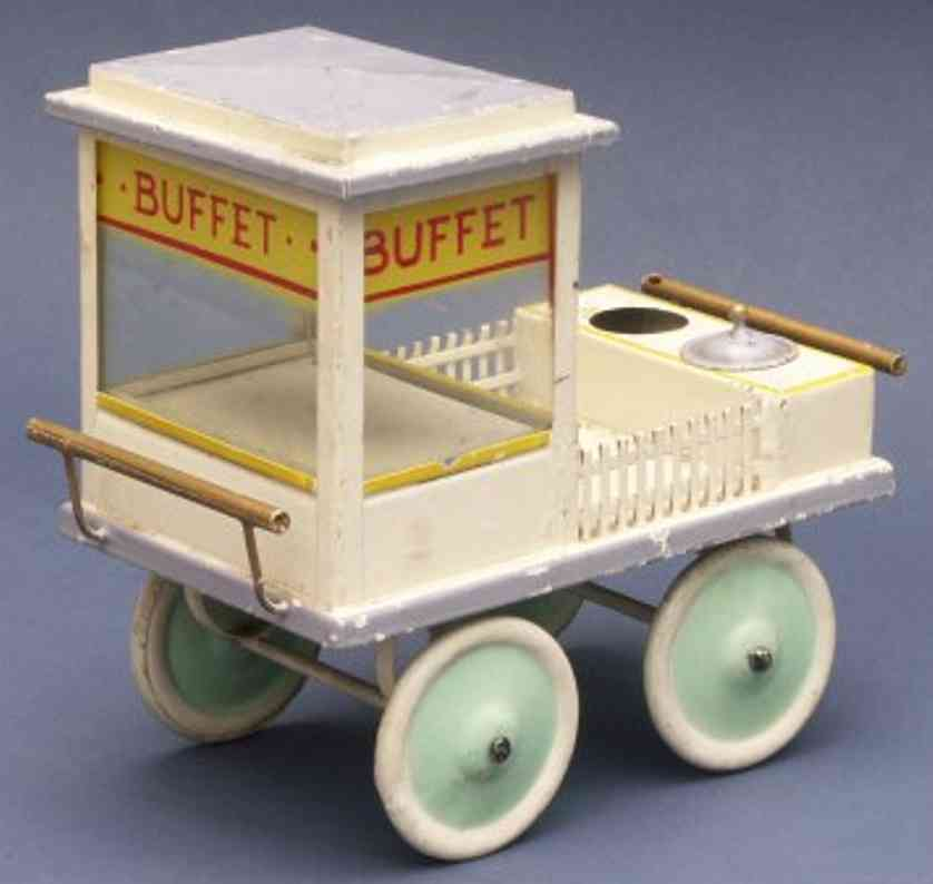 kibri 63/8 railway toy platform accessories buffet car in chamois, purple gray and brightly turquoise wi