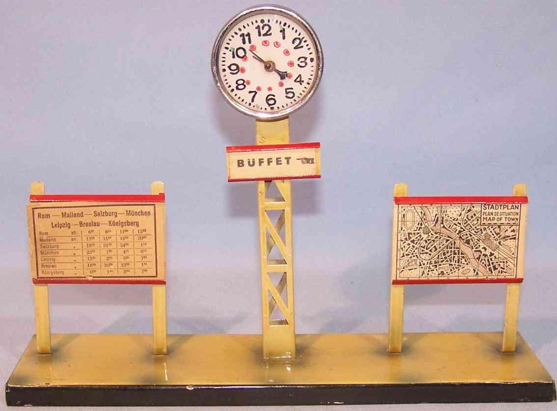 kibri 77/6 railway toy advertiser timetable stand clock map