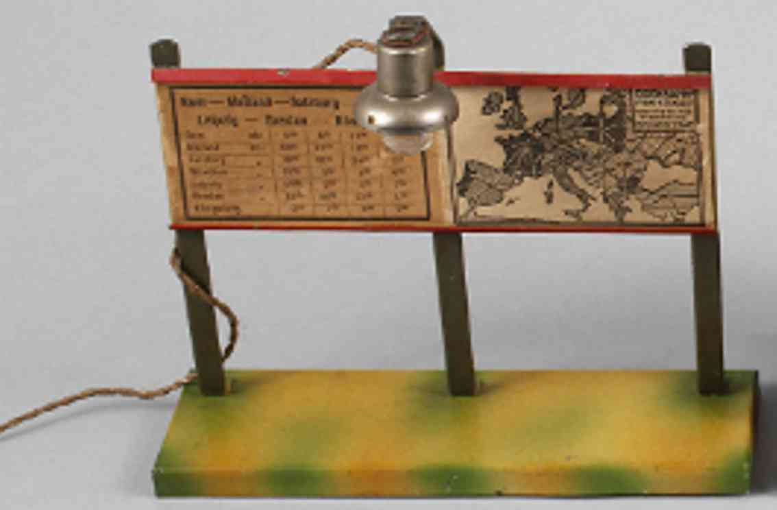 kibri 79/1 spielzeug eisenbahn zweiteiliger fahrplanstaender lampe