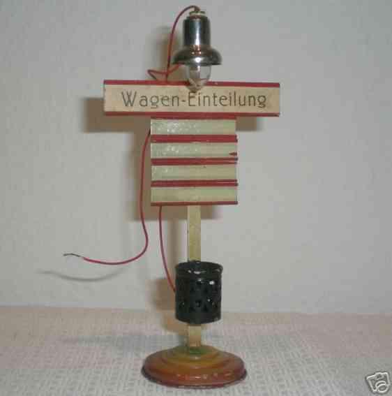 kibri 79/10 railway toy platform accessories cylindrical fattening with arc lamp on round base, half-roun