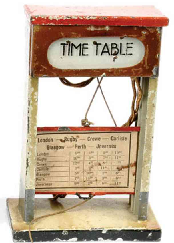 kibri 79/3 england railway toy platform accessories timetable