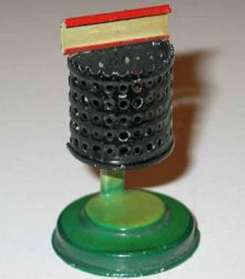 kibri 79/8 spielzeug eisenbahn papierkorb halbrunder durchbrochener abfallkorb