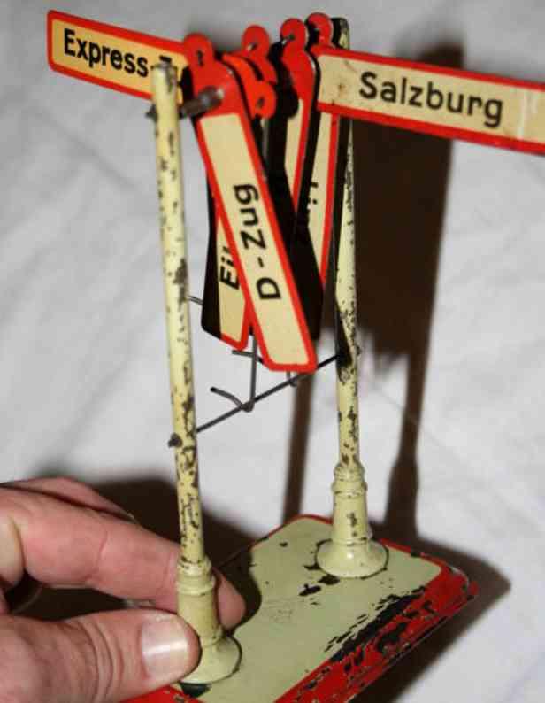kraus-fandor 2003/4 spielzeug eisenbahn richtungsanzeiger acht schilder