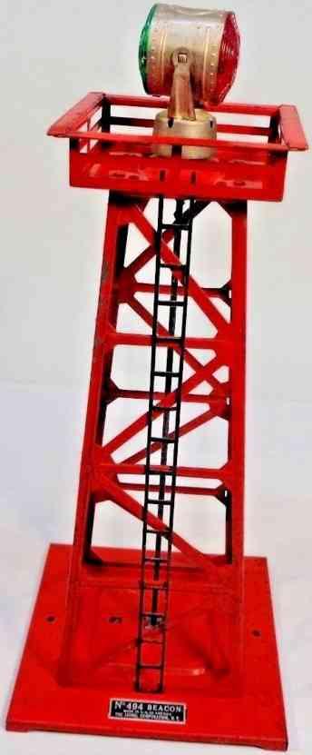 lionel 494 spielzeug eisenbahn zubehoer leuchtturm rot