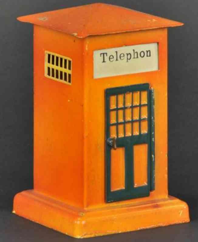 marklin 2263B spielzeug eisenbahn telefonhauschen gelbbraun