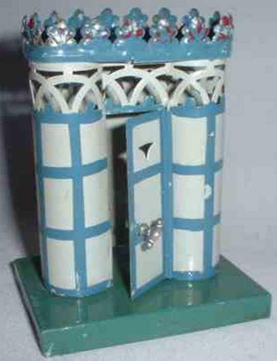 maerklin 2597 spielzeug eisenbahn toilette beduerfnis-anstalt blau