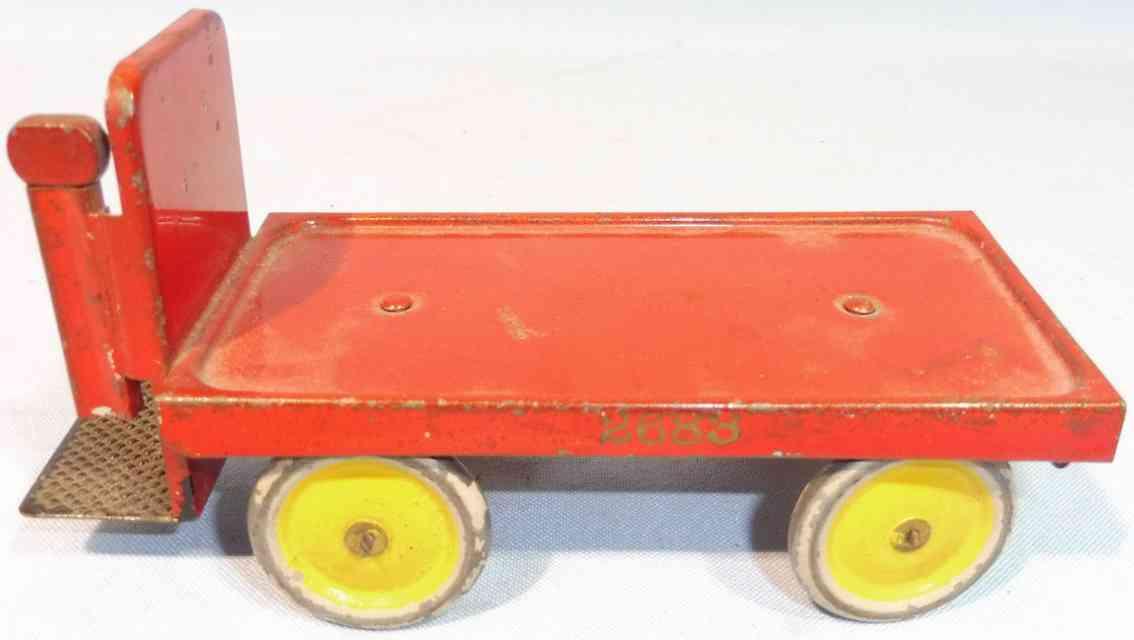 maerklin 2683 spielzeug eisenbahn gepaeckkarre  rot