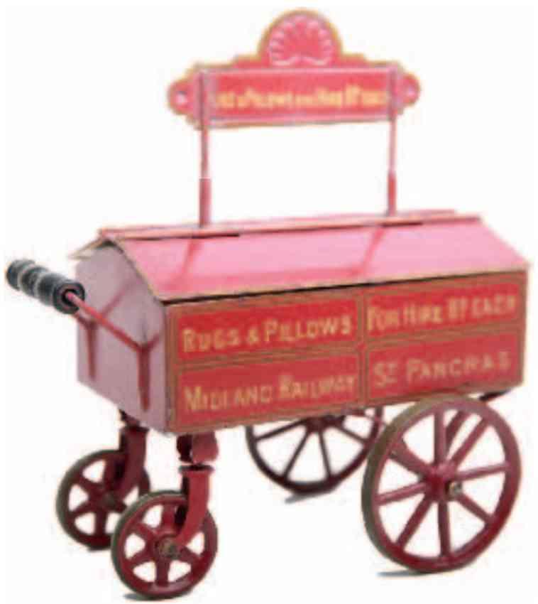 marklin maerklin 2835 railway toy sleeping pillows car red