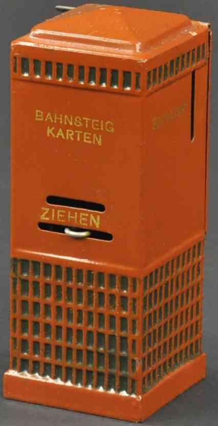 maerklin spielzeug eisenbahn zubehoer fahrkartenautomat