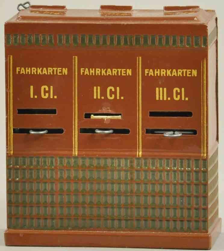 maerklin spielzeug eisenbahn fahrkartenautomat braun