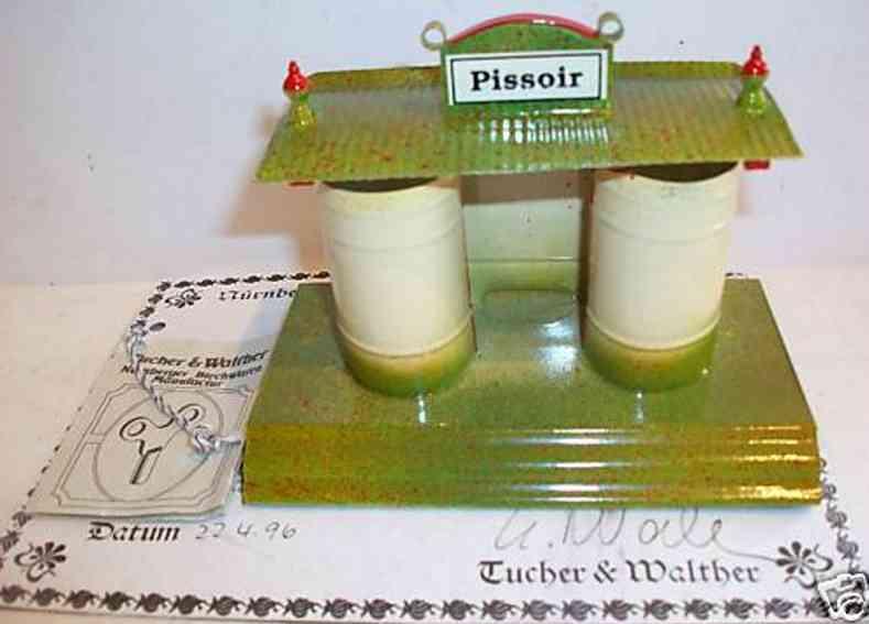 tucher & walther spielzeug eisenbahn pissoir toilette