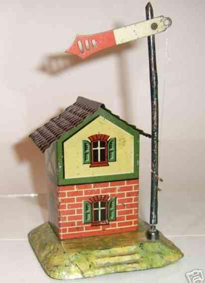 bing 8296/11 railway toy signalman's house