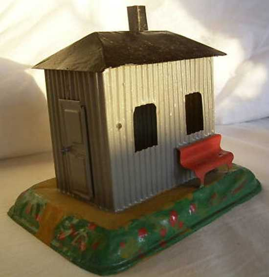 bing 8296.3 railway toy line keeper's lodge house of corrugated iron