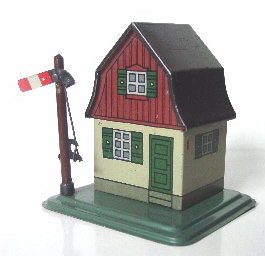 karl bub 926/9 railway toy warden house with signal