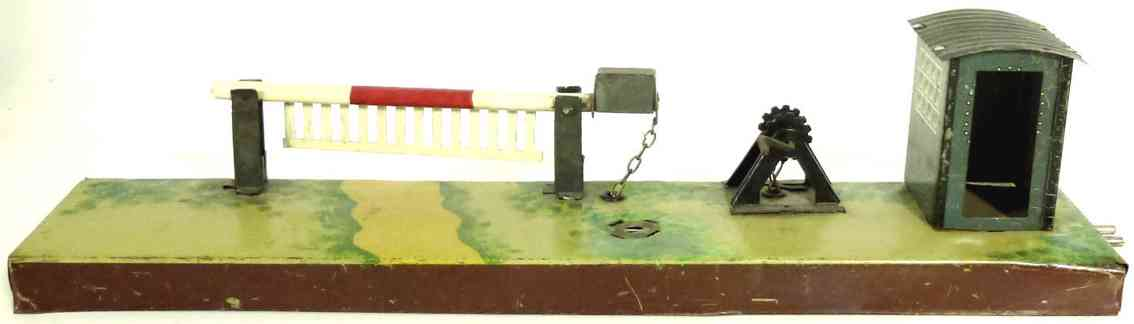 karl bub railway toy line keeper's lodge railway barrier with chain hoist and warden house