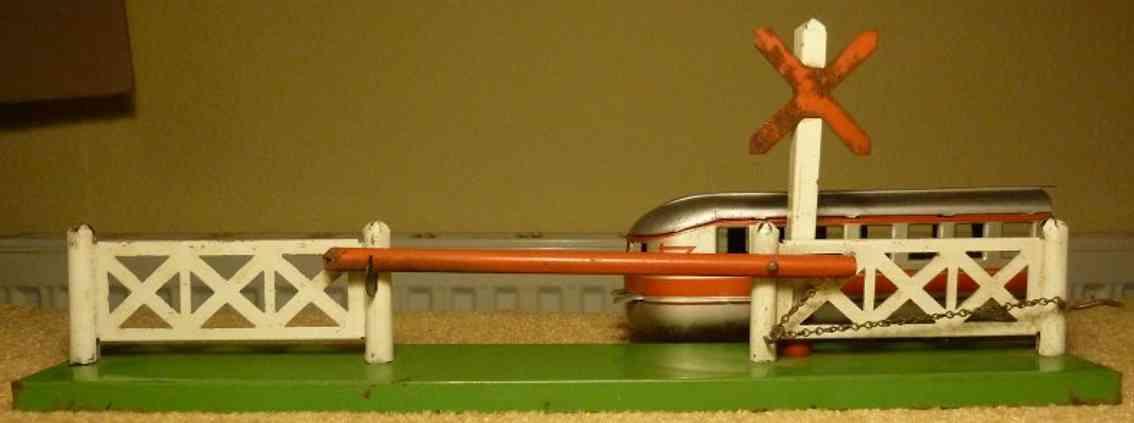 karl bub spielzeug eisenbahn eisenbahnschranke