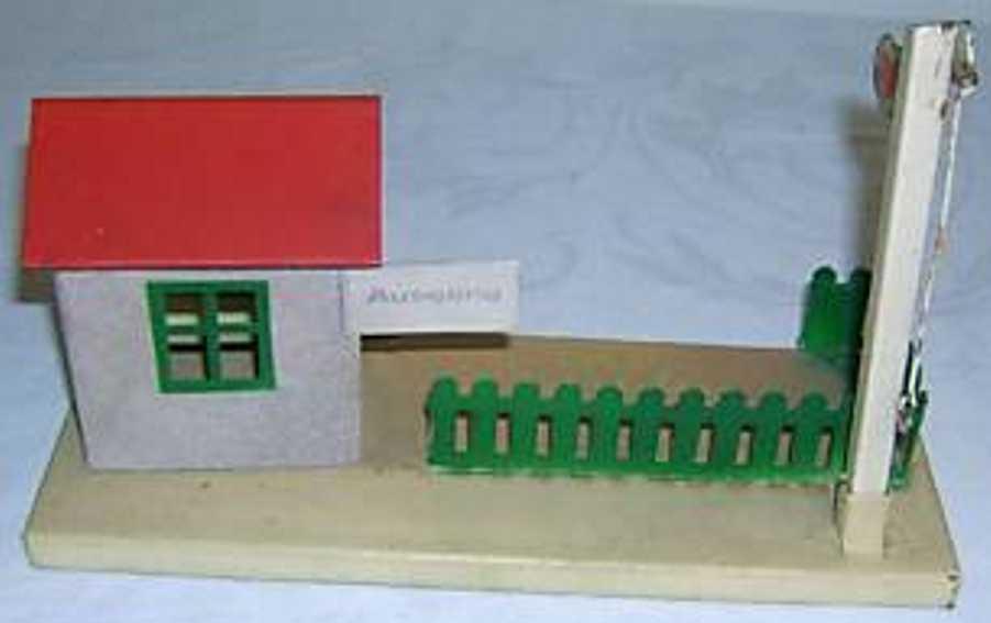cabo spielzeug eisenbahn waerterhaus mit signal und zaun