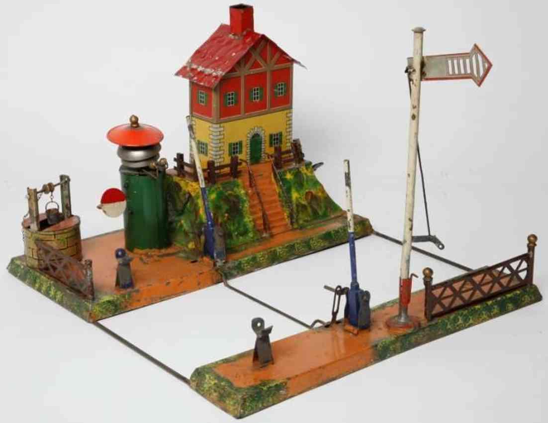 carette 647/30 b 1902 railway toy signalman's house laeutewerk brunnen hauptsignal