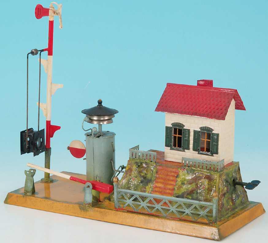 issmayer railway toy bahnuebergang mit lautewerk