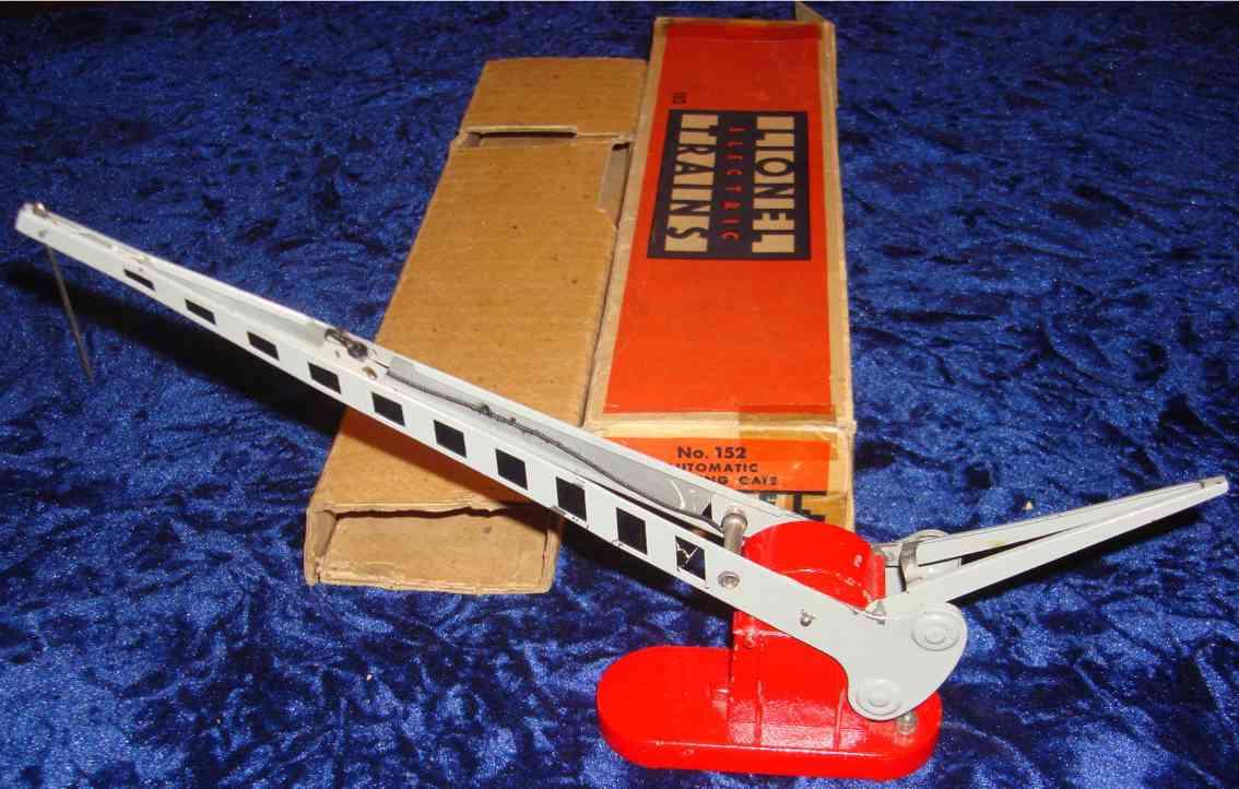 lionel 152 spielzeug eisenbahn automatische bahnschranke in silber roter sockel