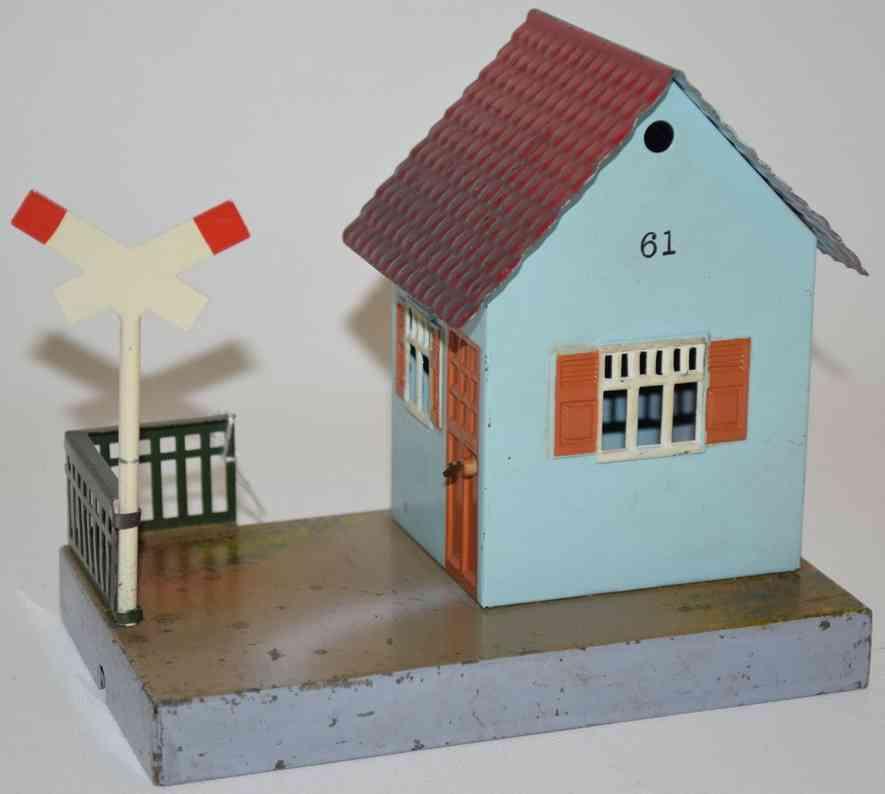 maerklin 2161 eisenbahn bahnwaerterhaus hellblau