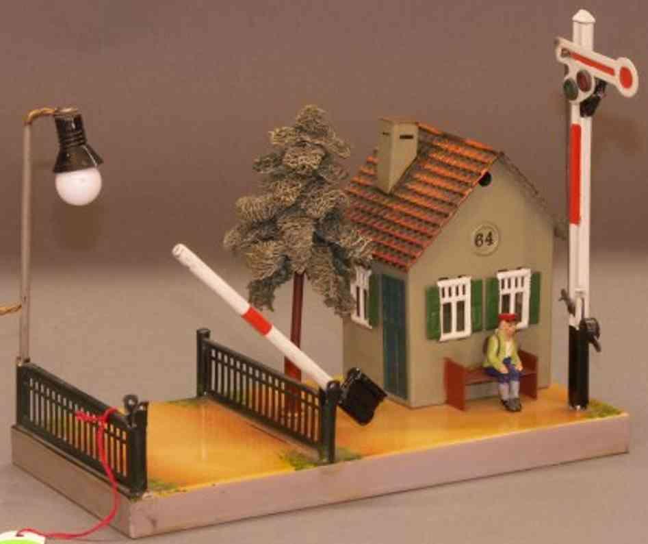 maerklin 2164 b spielzeug eisenbahn waerterhaus  lamp signal bank