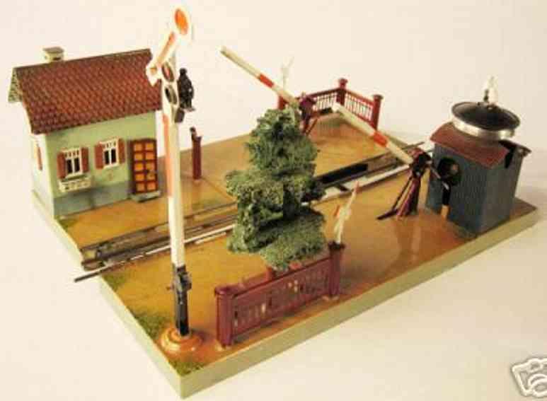 maerklin 2195 spielzeug eisenbahn bahnuebergang waerterhaus