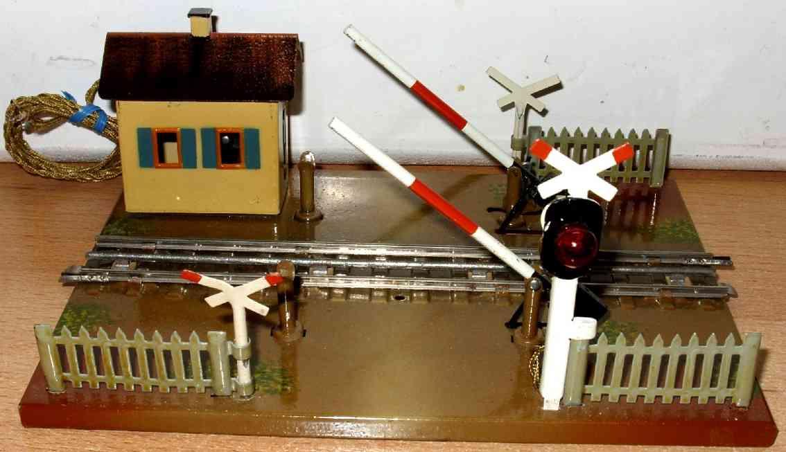 maerklin 458-1 em spielzeug eisenbahn bahnuebergang