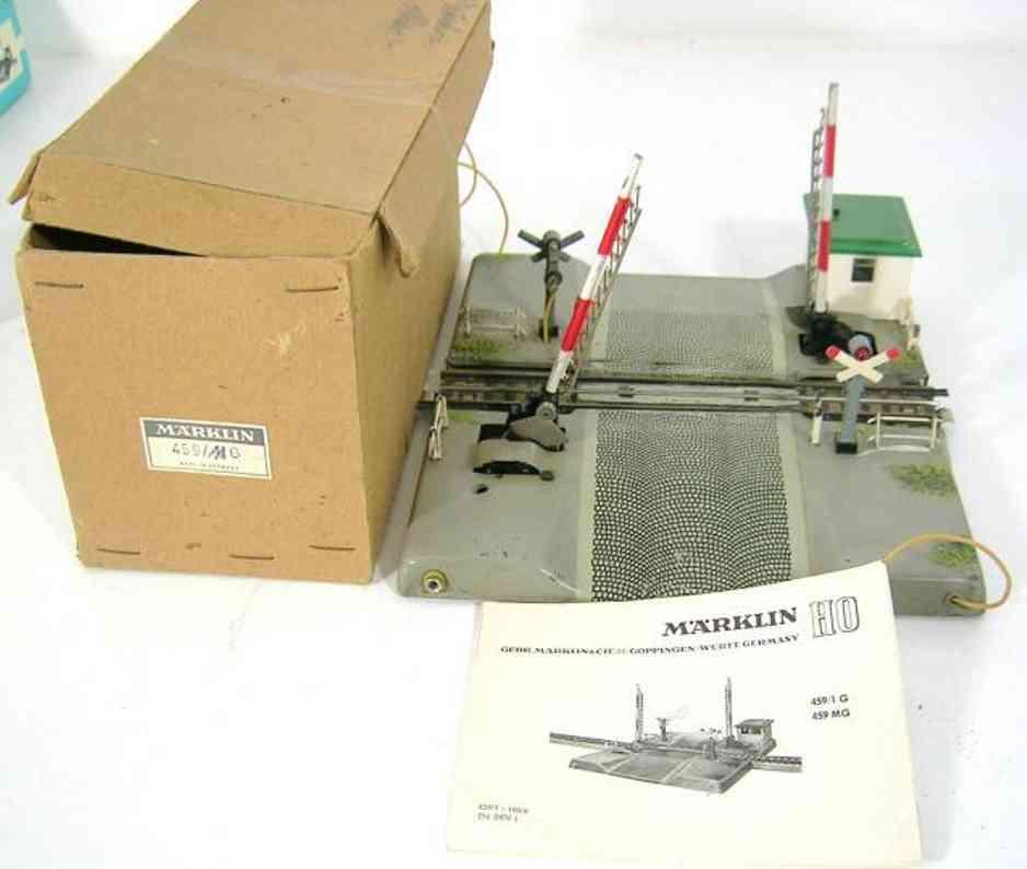 maerklin 459-1 mg spielzeug eisenbahn bahnuebergang