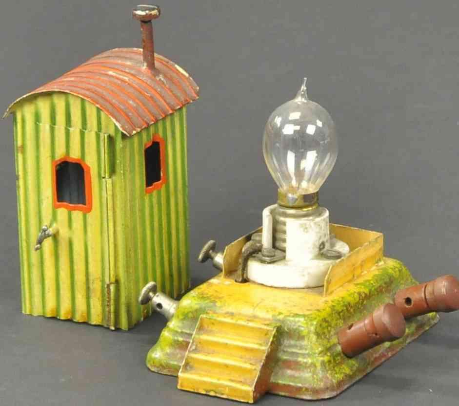 maerklin spielzeug eisenbahn wachhaus elektrische version lampe