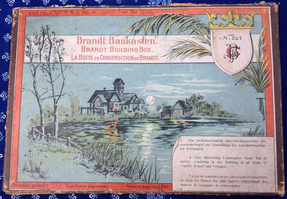 Brandt Carl 207 Baukästen Holzbaukasten