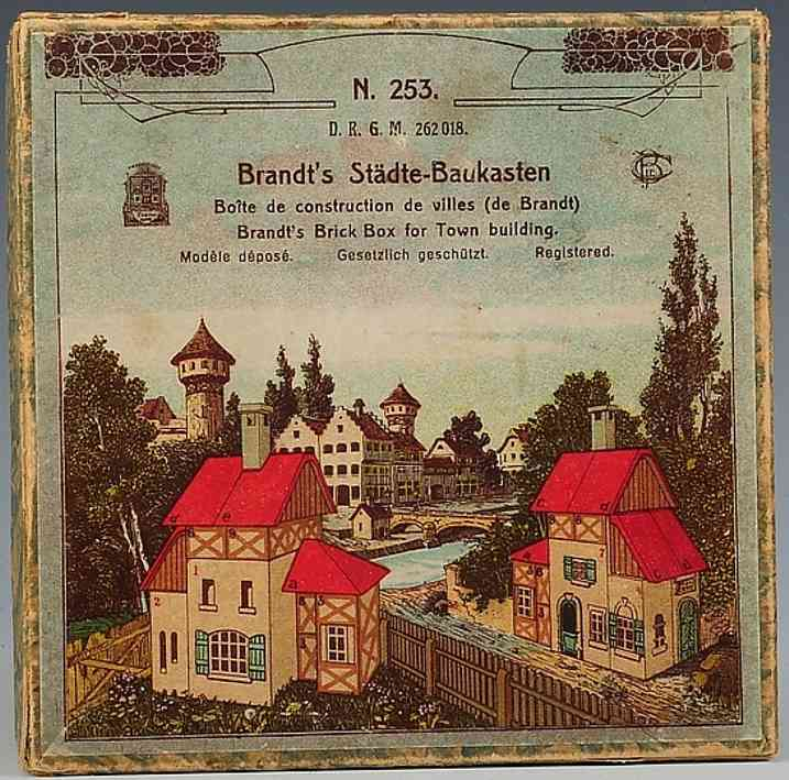 Brandt Carl 253 Holz-Städte-Baukasten