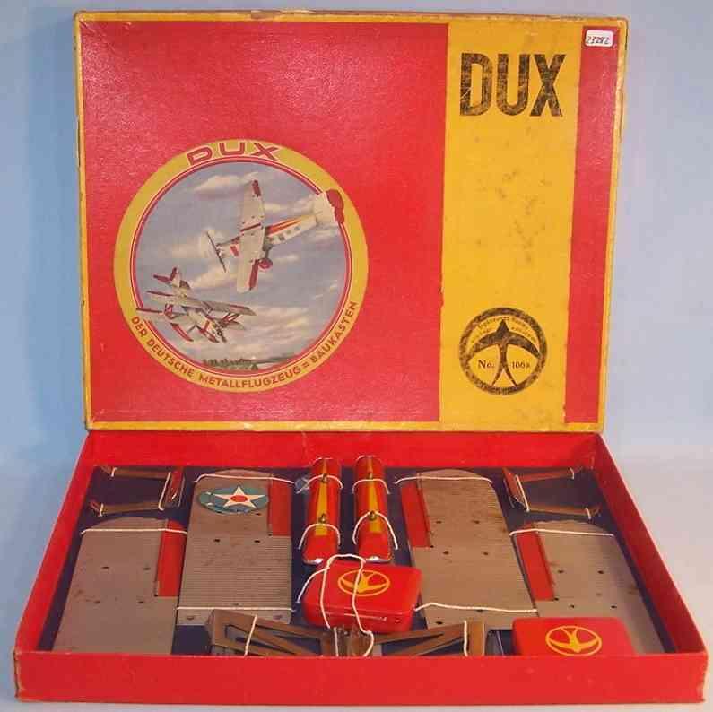 dux 106a blech spielzeug baukastenflieger ergaenzungskasten