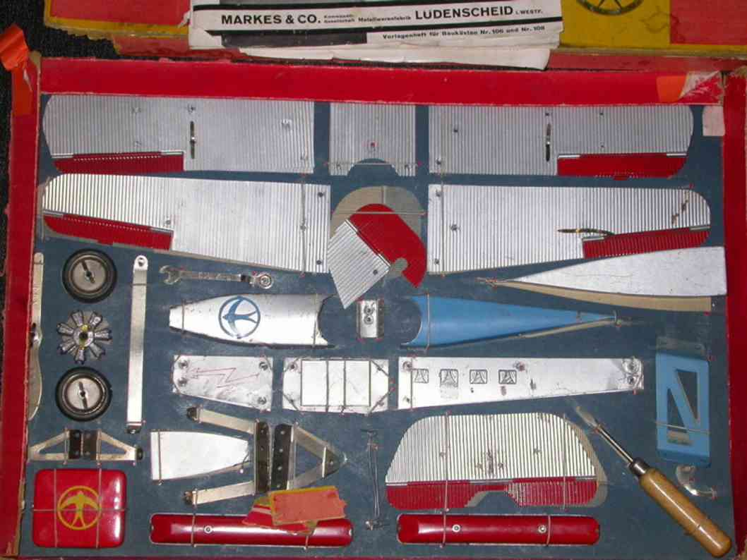 dux 109 metall flugzeug baukasten