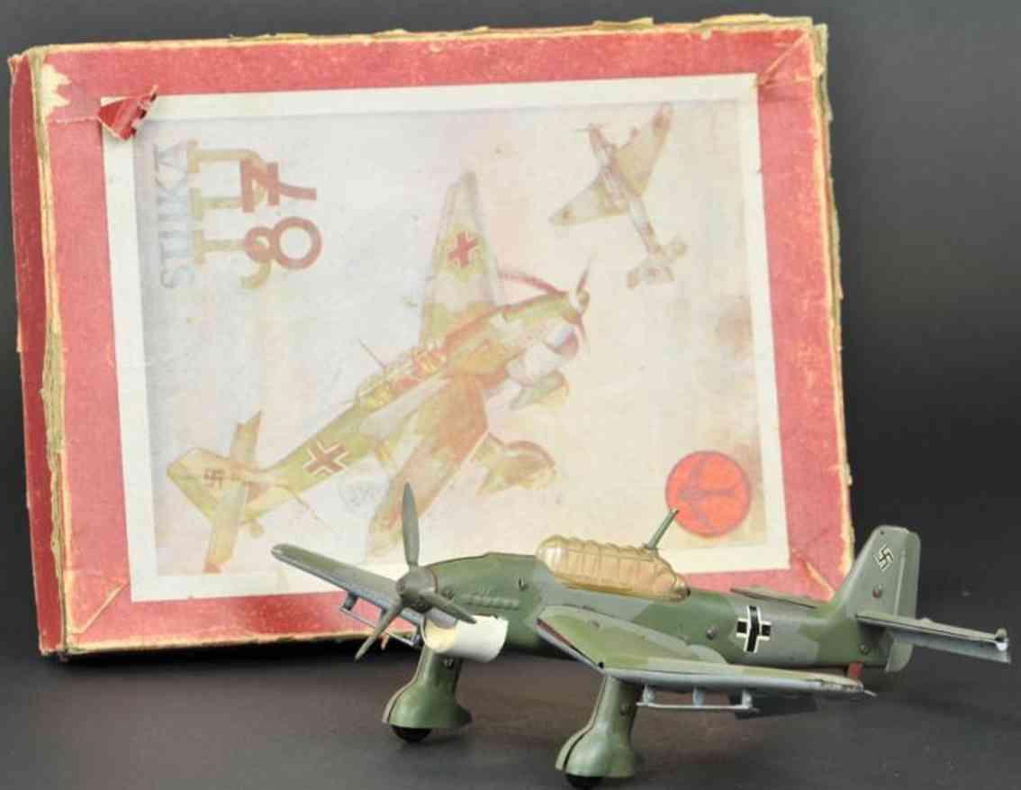 dux Ju 87 blech spielzeug baukastenflugzeug stuka ju 87