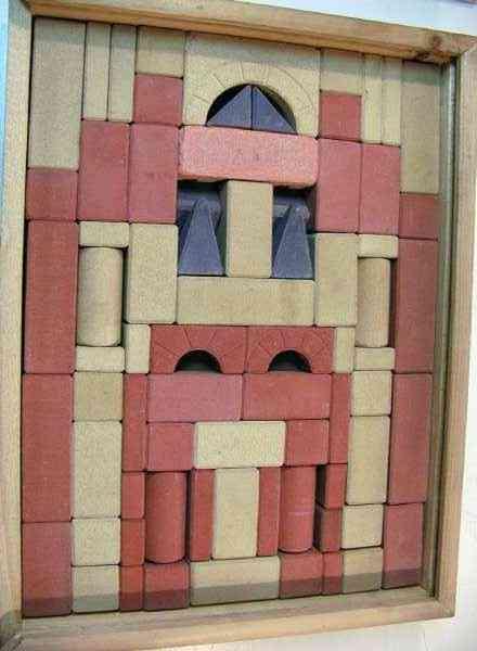 richter f ad stein spielzeug steinbaukasten in holzkiste