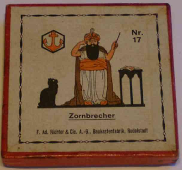 Richter F. Ad. 17 Steinbaukasten Zornbrecher, Geduld- oder Legespiel