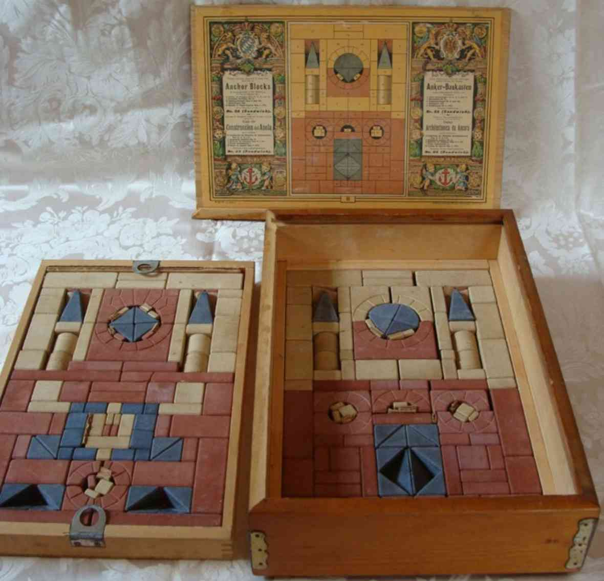 richter f ad 8 wooden toy kit anchor blocks, the blocks are made of quartz sand, chalk and