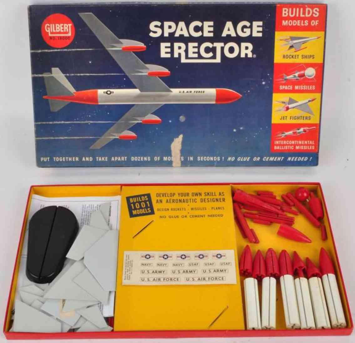 gilbert 1800 metal kit space age erector set