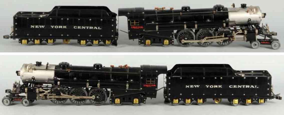 gilbert 8 1/2 metall baukasten erector dampflokomotive und tender